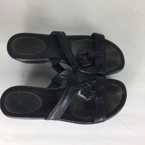 Cole Haan Black 81/2 Slip On Open Two Sandals